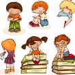 School kids — Stock Vector #62901893