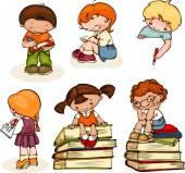 School kids — Stock Vector