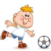 Sports schoolboy — Stock Vector