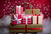 Gifts for Holidays, Christmas, anniversary — Stock Photo