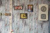 Fotos en el fondo de las viejas paredes de madera — Foto de Stock