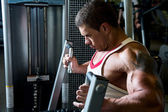 Portrait of a muscular man in the gym.  — Stock Photo