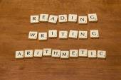 Reading writing arithmetic — Stock Photo