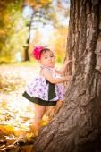 Fall Baby — Stock Photo