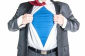 Business Man Superhero — Stock Photo