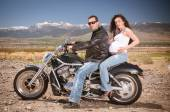 Biker Couple — Stock Photo