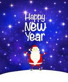 Fundo de ano novo com o Papai Noel — Vetor de Stock