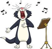 Singing cat — Stock Vector