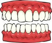 Falsche zähne — Stockvektor
