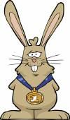兔冠军 — 图库矢量图片