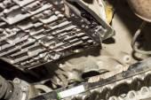 The image of car under repair — Stock Photo