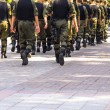 Soldiers march in formation — Stock Photo #83439846