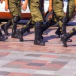 Soldiers march in formation — Stock Photo #83439848