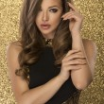 Magic Girl Portrait in Gold. Golden Makeup — Stock Photo #73283307