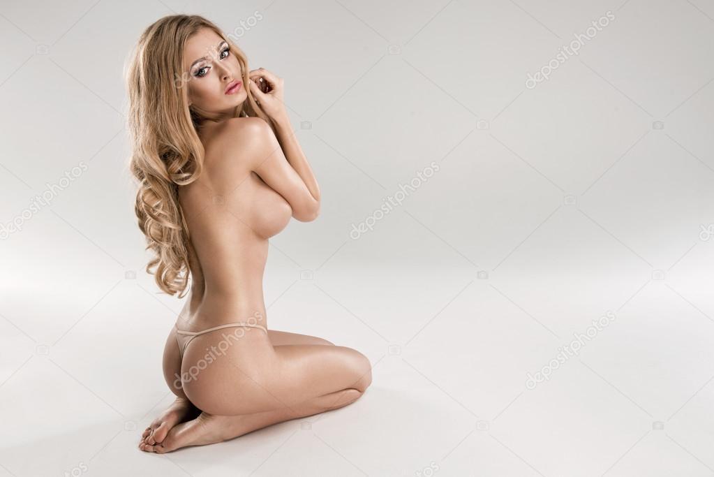 Naked slut wife in public