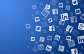 Social networks background — Stock Photo