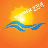 Vector Summer Sale background  brochure design — Stock Vector