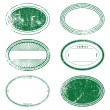 Green Grunge Oval Stamp Set — Stock Vector #54397739