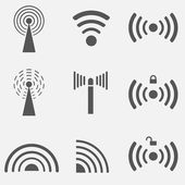 WiFi Icon Set — Stock Vector