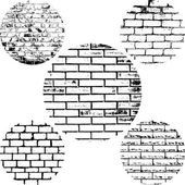 Set Brick Wall — Stockvector