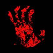 Hand Bloody — Stock Vector