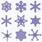 Simply Snowflake Set — Stock Vector