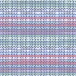 Knitted pattern light blue pink — Stock Vector #63834851