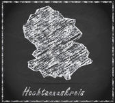 Map of Hochtaunuskreis — Stock Photo