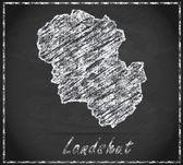 Map of Landshut — Stock Photo