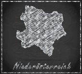 Kaart van Neder-Oostenrijk — Stockfoto