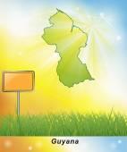 Map of Guyana — Stock Photo