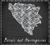 Map of Bosnia and Herzegovina — Stock Photo