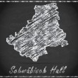 Map of Schwaebisch-Hall — Stock Photo #60712897