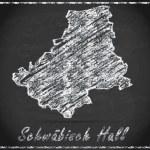 Map of Schwaebisch-Hall — Stock Photo #60712897