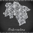 Map of Lower Saxony — Stock Photo #60716031