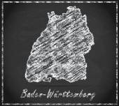Map of Baden-Wuerttemberg — Stock Photo