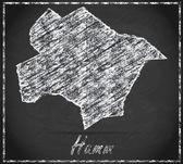 Map of Hamm — Stock Photo