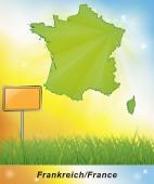 Kaart van Frankrijk — Stockfoto
