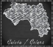 карта гвинеи — Стоковое фото
