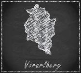 Map of vorarlberg — Stock Photo