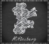Map of Miltenberg — Стоковое фото