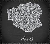 Map of Fuerth — Стоковое фото