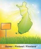 карта финляндии — Стоковое фото