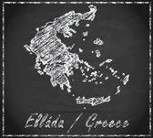 карта греции — Стоковое фото
