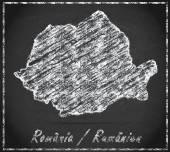 Map of Romania — Stock Photo