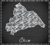 Map of cham — Stock Photo