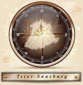 Carte de Trèves-Sarrebourg — Vecteur