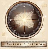 Map of Estonia — Stock Vector