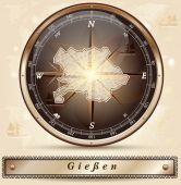 Map of giessen — Stock Vector