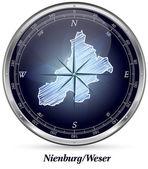 Map of Nienburg-Weser — 图库矢量图片